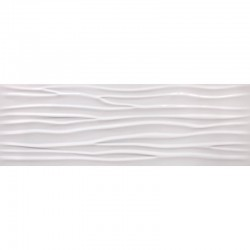 CIFRE GLACIAR WAVE WHITE BRILLO 30 x 90