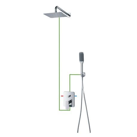 Omnires system prysznicowy Apure SYS AP10